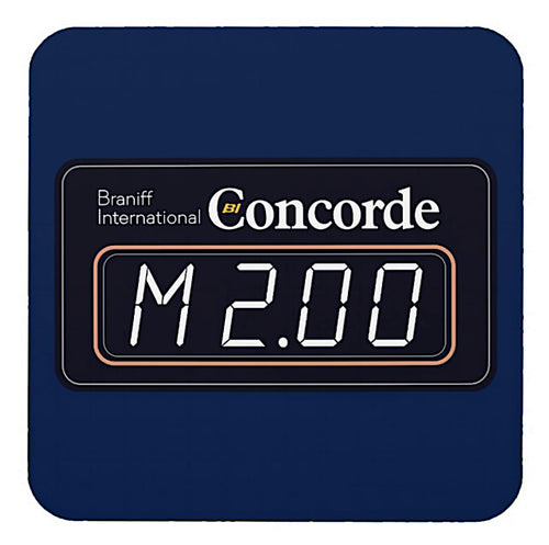 Drink Coaster Braniff Concorde Mach 2 Meter Set of 6