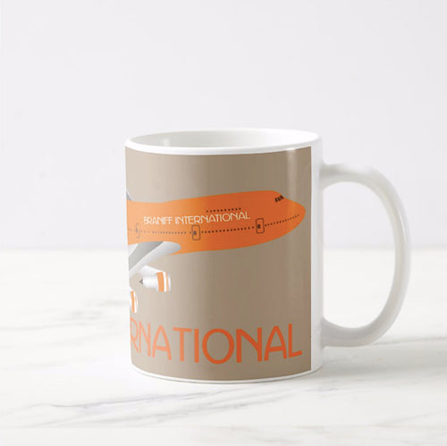 Coffee Mug 11 oz Braniff Boeing 747-227 Big Orange Ultra in Multiple Colors