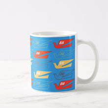 Coffee Mug 11 oz Braniff Bluebird Logo Two Tone in Light Blue