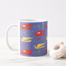 Coffee Mug 11 oz Braniff Bluebird Logo Two Tone in Purple