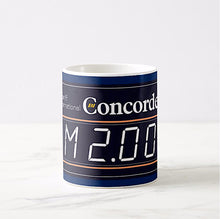 Coffee Mug 11 oz Braniff Concorde Mach 2 Meter in Dark Blue