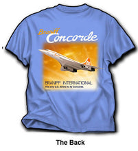 T-Shirt Braniff Sheppard Collection 1979 Concorde Blue