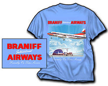 T-Shirt Braniff Sheppard Collection Convair 340 Light Blue