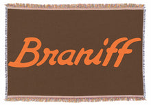 Throw Blanket Braniff Billboard Ultra Orange and Brown