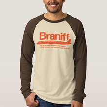 T-Shirt Braniff DC-8 Jet Orange Logo Light/Dark Brown Long Sleeve