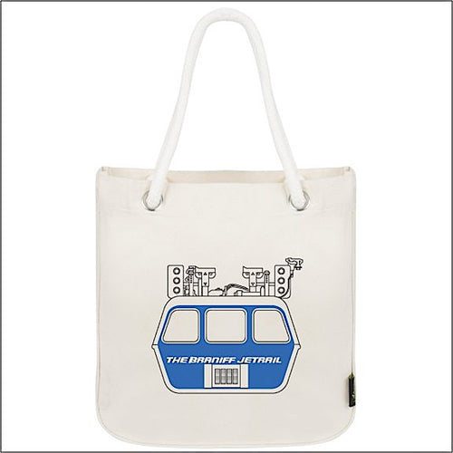 Tote Bag Organic Cotton Rope Braniff Jetrail Blue