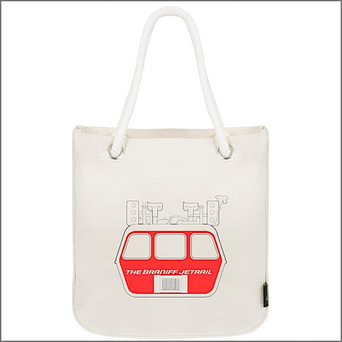Tote Bag Organic Cotton Rope Braniff Jetrail Red