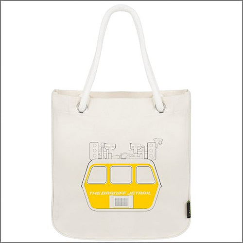 Tote Bag Organic Cotton Rope Braniff Jetrail Yellow