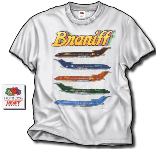 T-Shirt Braniff Sheppard Collection 1978 Ultra 727 Color Scheme Ash Gray