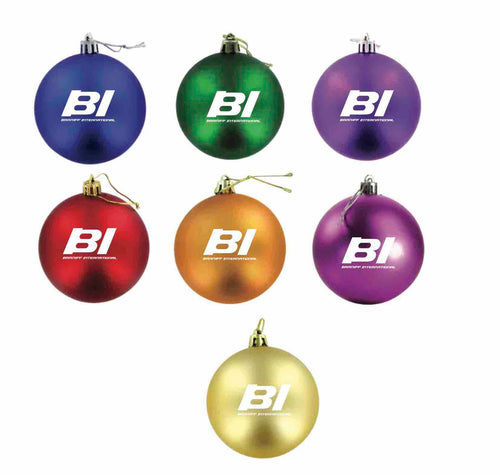 Christmas Ornament Set of 9 Braniff End of the Plain Plane BI Logo