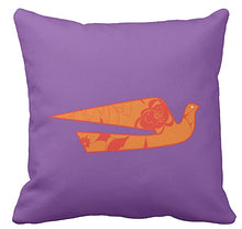Pillow Braniff Alexander Girard Design Hawaiian Bluebird and BI Logo