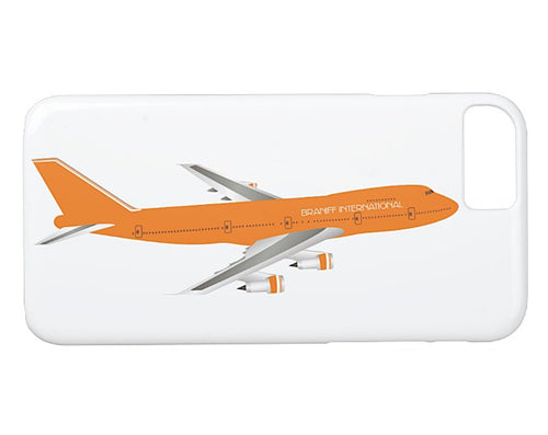 Phone Case iPhone and Galaxy Barely There Braniff 747-227 Ultra Orange
