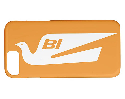 Phone Case iPhone and Galaxy Barely There Braniff Alexander Girard Design Bluebird White Orange