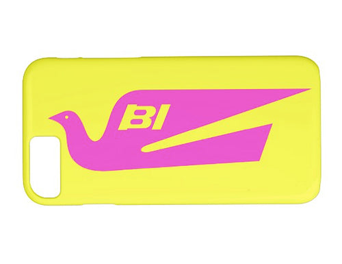 Phone Case iPhone and Galaxy Barely There Braniff Alexander Girard Design Bluebird Hot Pink Yellow