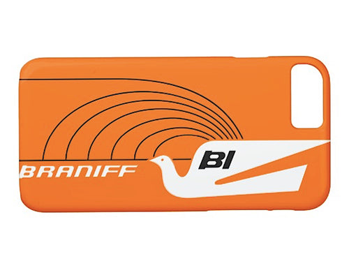 Phone Case iPhone and Galaxy Barely There Braniff Alexander Girard Design Jetset Bluebird White Orange Black