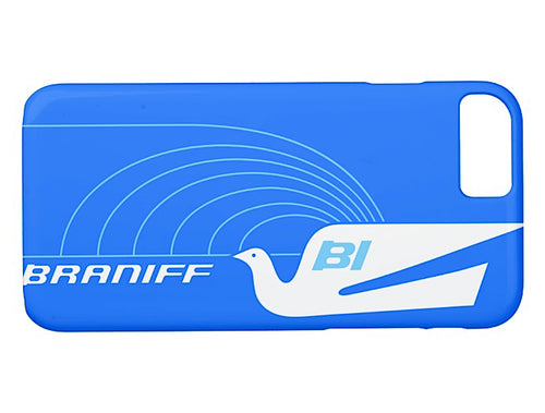 Phone Case iPhone and Galaxy Barely There Braniff Alexander Girard Design Jetset Bluebird White Blue