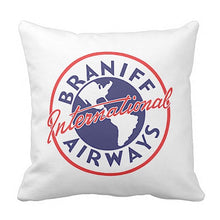 Pillow Braniff International Airways Logo 1948