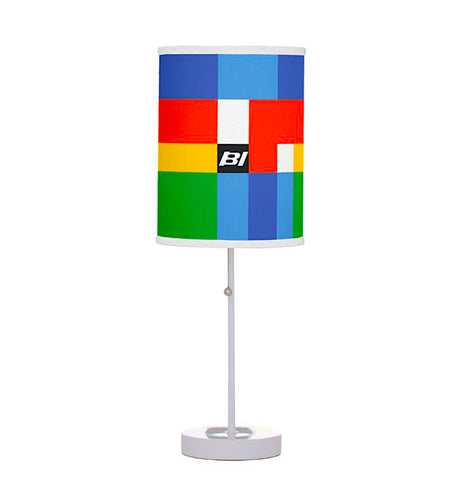 Round Table Lamp with Shade Alexander Girard Multi Design