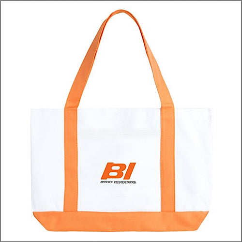 Tote Bag Large Boat Braniff BI Countries Served Orange