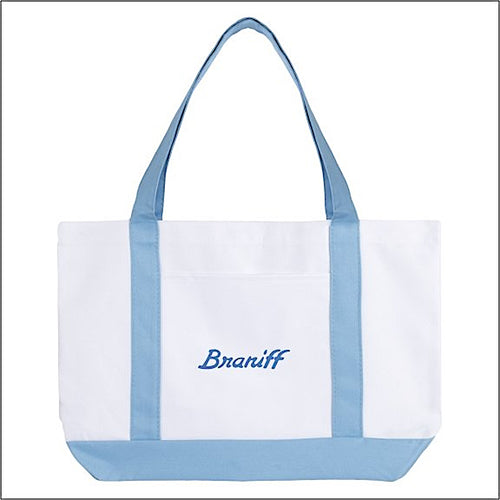 Tote Bag Large Boat Braniff Ultra Font Light Blue