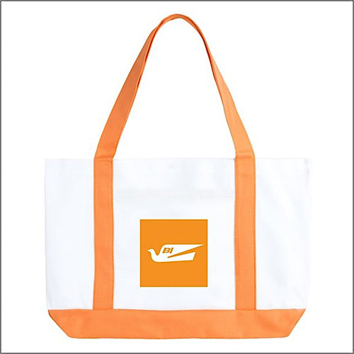 Tote Bag Large Boat Braniff Bluebird of Happiness Orange