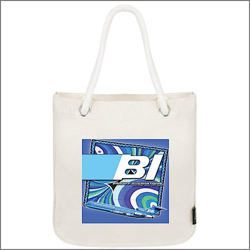 Tote Bag Organic Cotton Rope 727 Braniff Place Blue