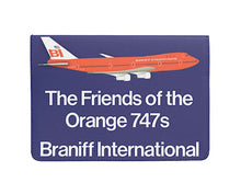 Passport Cover Eco-Friendly Handsewn Friends Braniff 747-127 N601BN