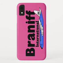 Phone Case iPhone and Galaxy Barely There Braniff Blue Boeing 707 in Pink