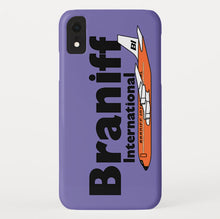 Phone Case iPhone and Galaxy Barely There Braniff Orange Boeing 707 in Purple