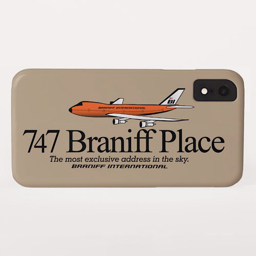 Phone Case iPhone and Galaxy Barely There Braniff 747 Exclusive Address Beige