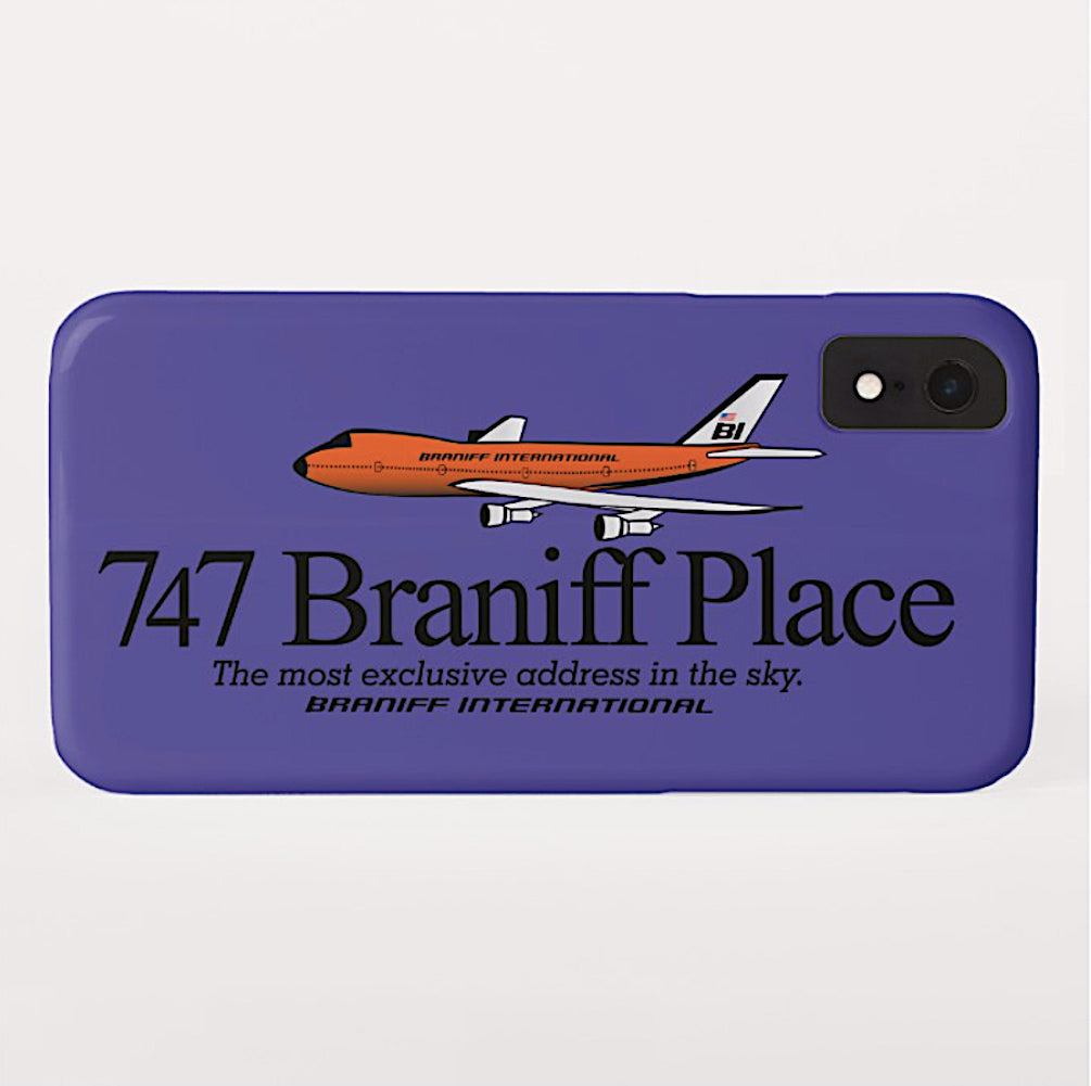 Phone Case iPhone and Galaxy Barely There Braniff 747 Exclusive Address Purple