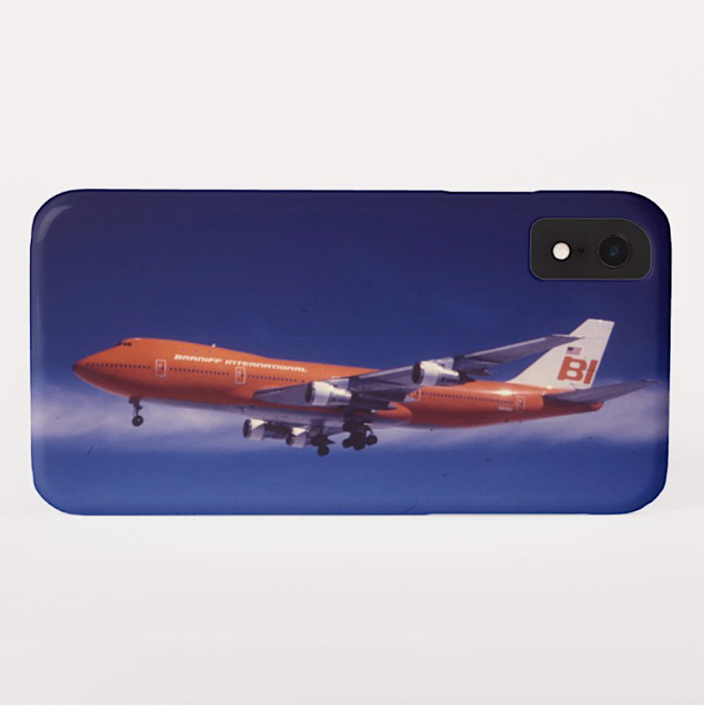 Phone Case iPhone and Galaxy Barely There Braniff Boeing 747-127 N601BN Landing 2