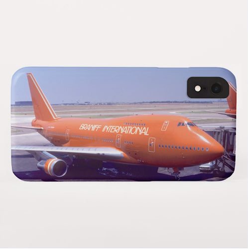 Phone Case iPhone and Galaxy Barely There Braniff Boeing 747-27 at DFW