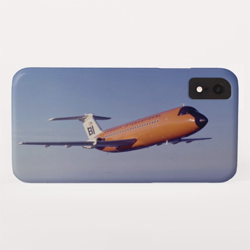 Phone Case iPhone and Galaxy Barely There Braniff BAC One-11 Inflight Orange