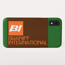 Phone Case iPhone and Galaxy Barely There Braniff BI Logo Orange Brown Green