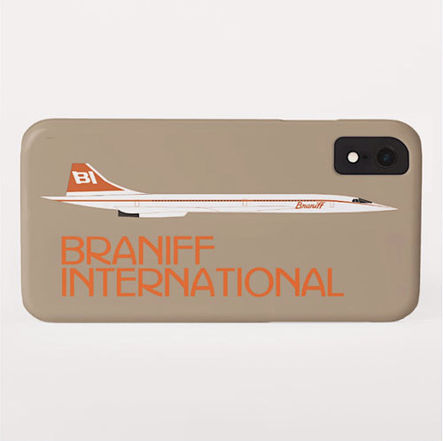 Phone Case iPhone and Galaxy Barely There Braniff Concorde SST Orange Beige