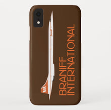 Phone Case iPhone and Galaxy Barely There Braniff Concorde SST Orange Brown