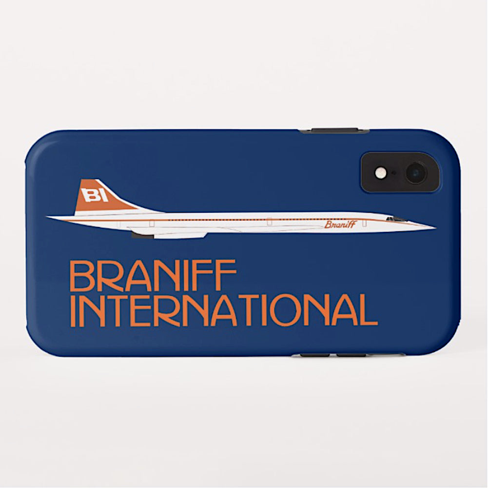 Phone Case iPhone and Galaxy Barely There Braniff Concorde SST Orange Dark Blue