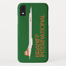 Phone Case iPhone and Galaxy Barely There Braniff Concorde SST Orange Green