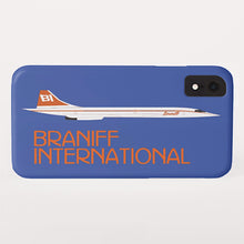 Phone Case iPhone and Galaxy Barely There Braniff Concorde SST Orange Blue