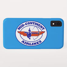 Phone Case iPhone and Galaxy Barely There Braniff Mid-Continent Airlines Cross and Bow Logo Light Blue