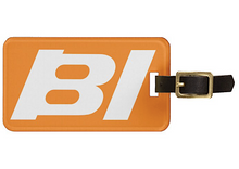 Luggage Tag Personalized Braniff Alexander Girard Design BI Logo White Orange