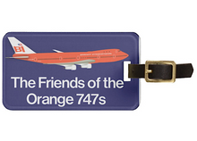 Luggage Tag Personalized Friends Braniff 747-127 N601BN Orange Blue