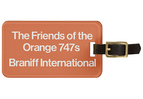 Luggage Tag Personalized Friends Braniff 747 Orange
