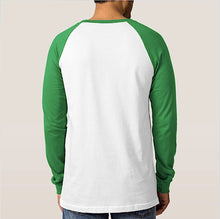 T-Shirt Braniff Green White Long Sleeve DC-8 Countries Served Blue Green