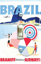 Light Switch Outlet Plate Cover Braniff Travel Poster Design Destination