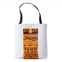 Tote Bag All Over Print with Braniff Luggage Tags from South America