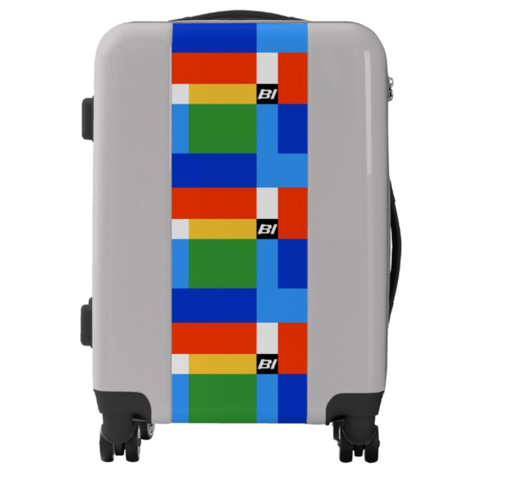 Luggage Ugo Bags Hard Side Spinner Carry On with Braniff Alexander Girard Design by David Preziosi