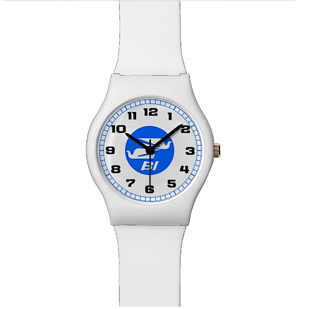 Watch White Mens Womens Braniff Bluebirds with BI Logo