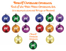 Christmas Ornament Mixed Set of 9 Braniff End of the Plain Plane